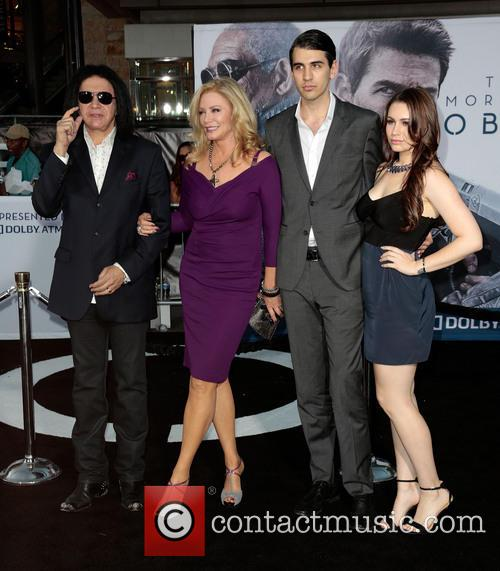 gene simmons shannon tweed nick simmons sophie simmons los angeles 3599591