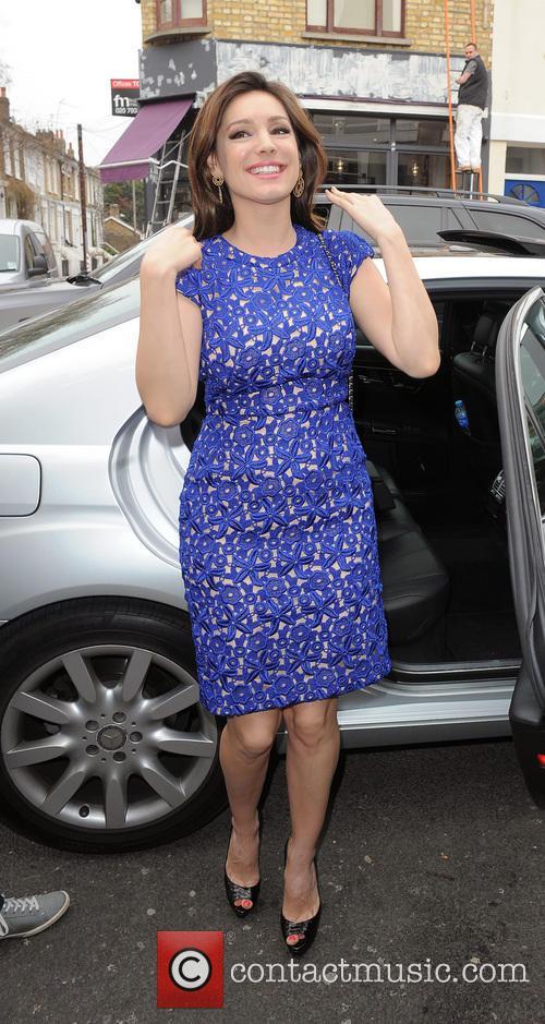 Kelly Brook arriving at the Riverside studios