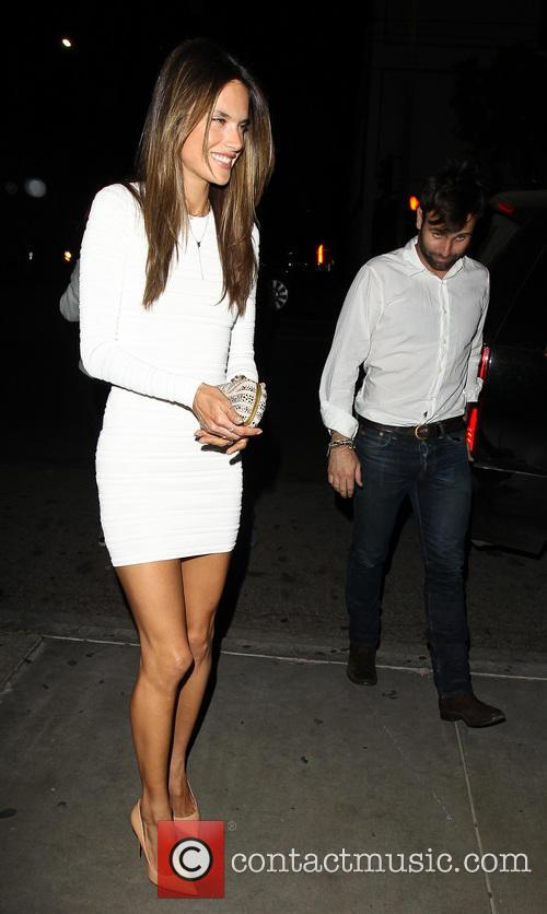 Alessandra Ambrosio out for her Birthday