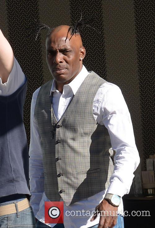 Rapper Coolio filming on Cannon Drive
