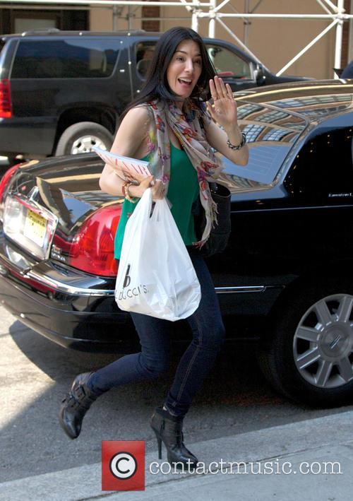 Jaime Murray arriving at her Manhattan hotel