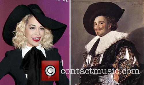 Rita Ora resembles Frans Hals' Laughing Cavalier as...
