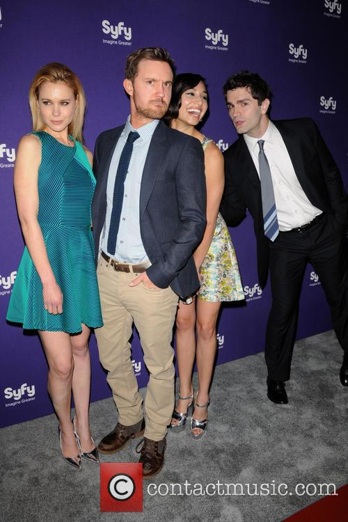 Sam Witwer, Meaghan Rath, Kristen Hager and Sam Huntington 2