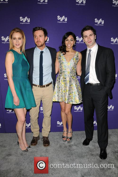 Sam Witwer, Meaghan Rath, Kristen Hager and Sam Huntington 4