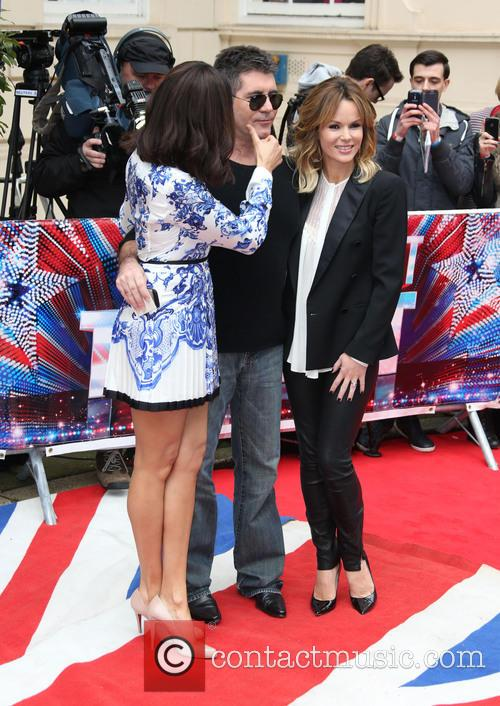 Alesha Dixon, Simon Cowell and Amanda Holden 10