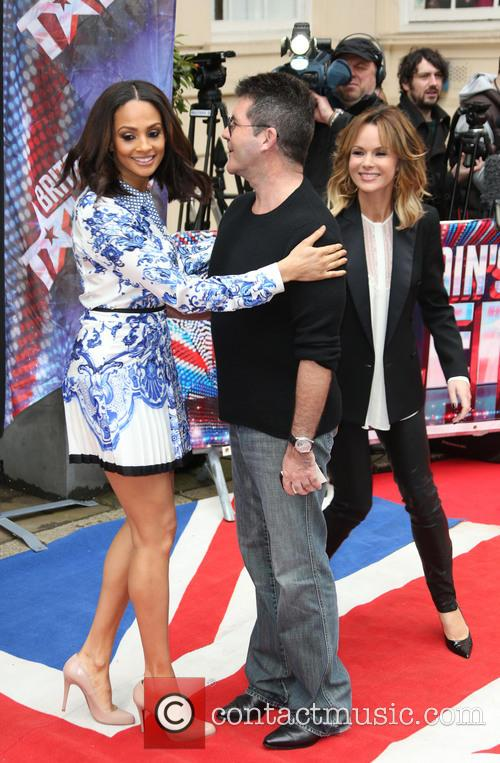 Alesha Dixon, Simon Cowell and Amanda Holden 11