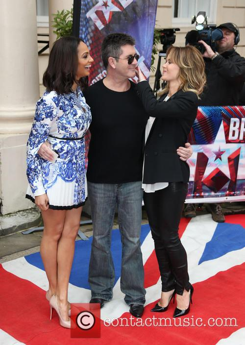 Alesha Dixon, SImon Cowell and Amanda Holden 4
