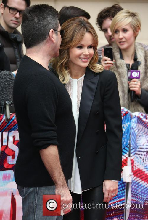 SImon Cowell and Amanda Holden 2