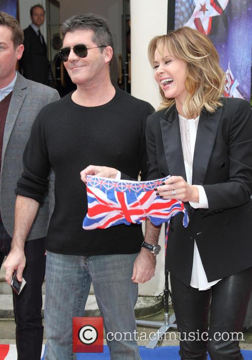 Simon Cowell and Amanda Holden 1