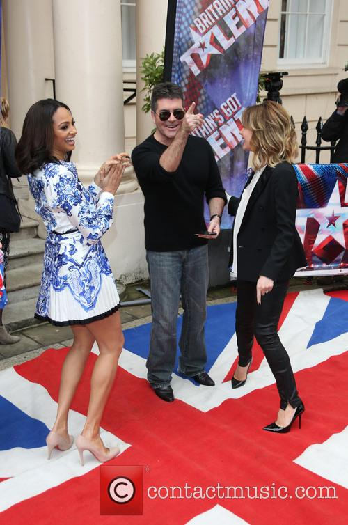 Amanda Holden, Simon Cowell and Alesha Dixon 8