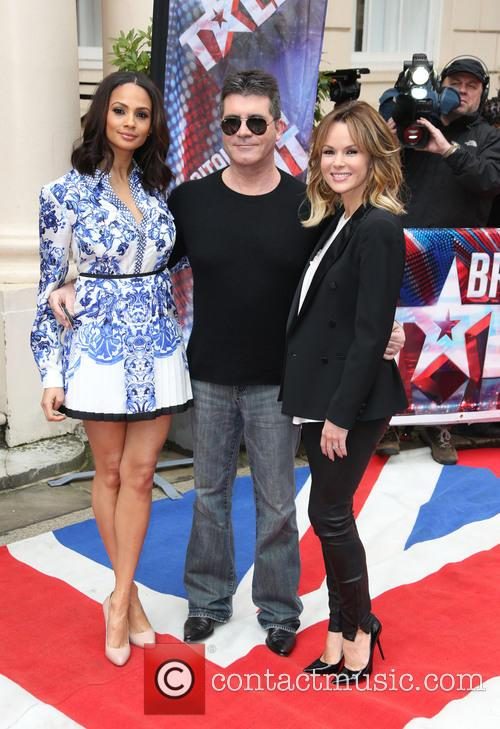 Amanda Holden, Simon Cowell and Alesha Dixon 6