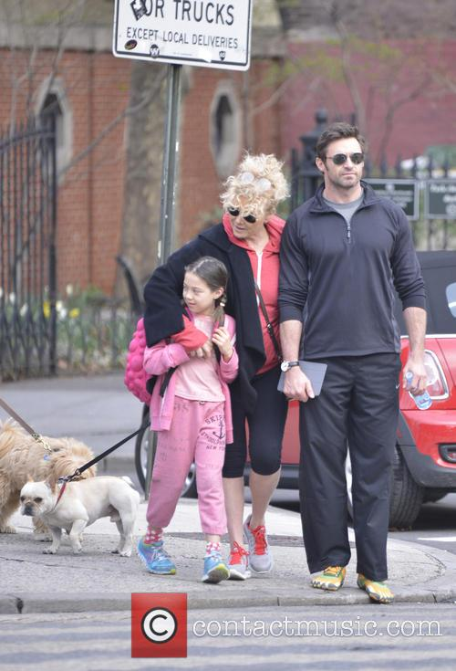 Hugh Jackman, Ava Eliot Jackman and Deborra-lee Furness 6