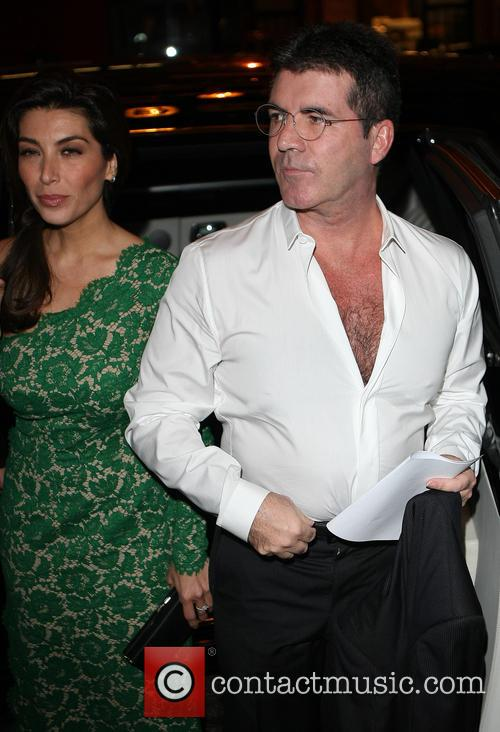 Mezhgan Hussainy and Simon Cowell 2
