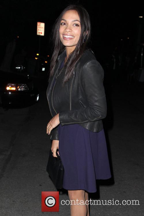 Rosario Dawson leaving a party
