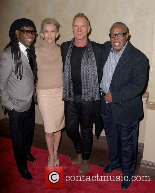 Nile Rodgers, Trudie Styler, Sting Styler and Sam Moore 3