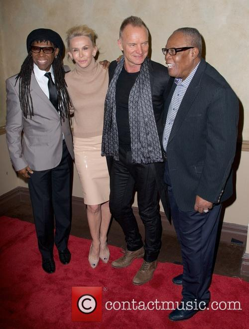 Nile Rodgers, Trudie Styler, Sting Styler and Sam Moore 4