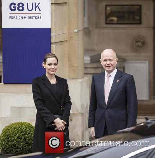 Angelina Jolie and William Hague 2