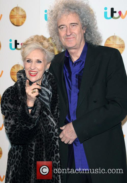 Anita Dobson and Brian May 1