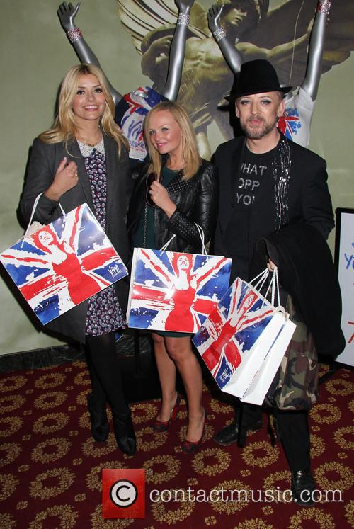 holly willoughby emma bunton boy george celebs night out 3602205
