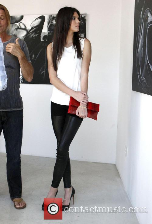 Kendall Jenner visits the Nomad Two Worlds exhibit