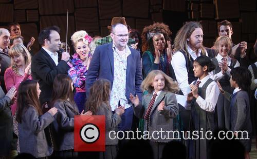 Lauren Ward, Lesli Margherita, Gabriel Ebert, Karen Aldridge, Tim Minchin and Cast Of Matilda 6