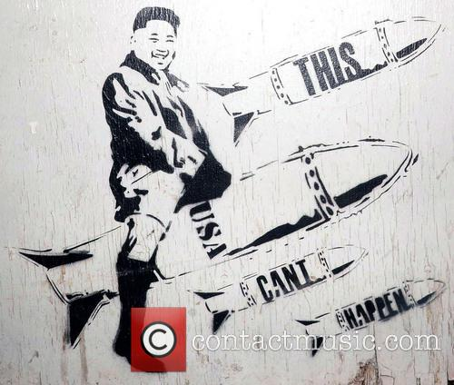 Street Art Work Of Kim Jong-un
