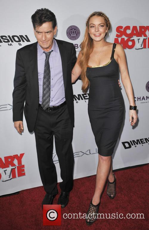 Charlie Sheen and Lindsay Lohan 4