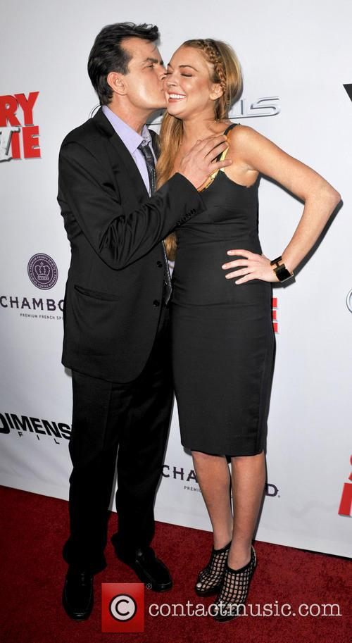 Charlie Sheen and Lindsay Lohan 7