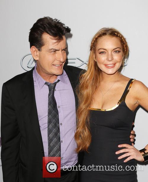 Charlie Sheen and Lindsay Lohan 7