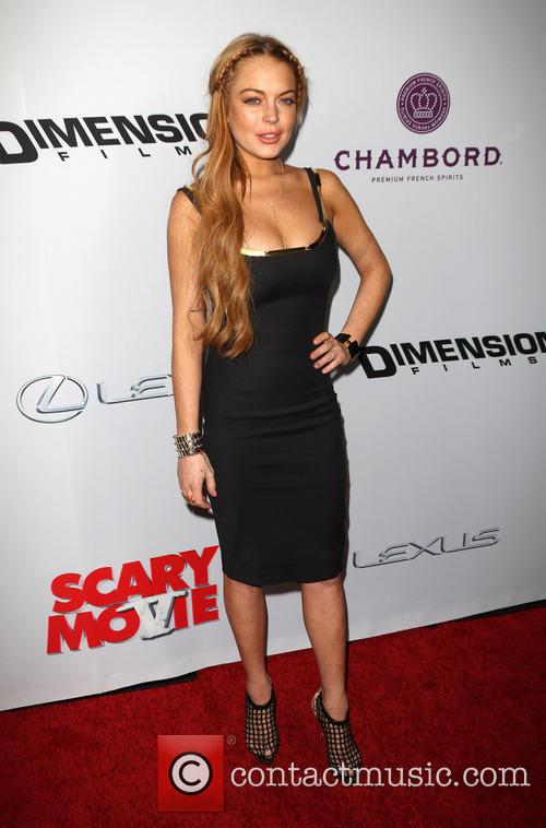 lindsay lohan premiere of scary movie 5 3602154