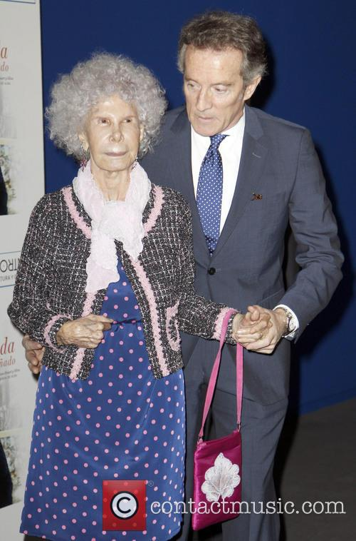 Duchess of Alba at her book launch event...