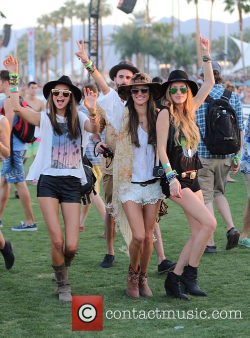 Miranda Kerr, Alessandra Ambrosio, Candice Swanepoel, Coachella
