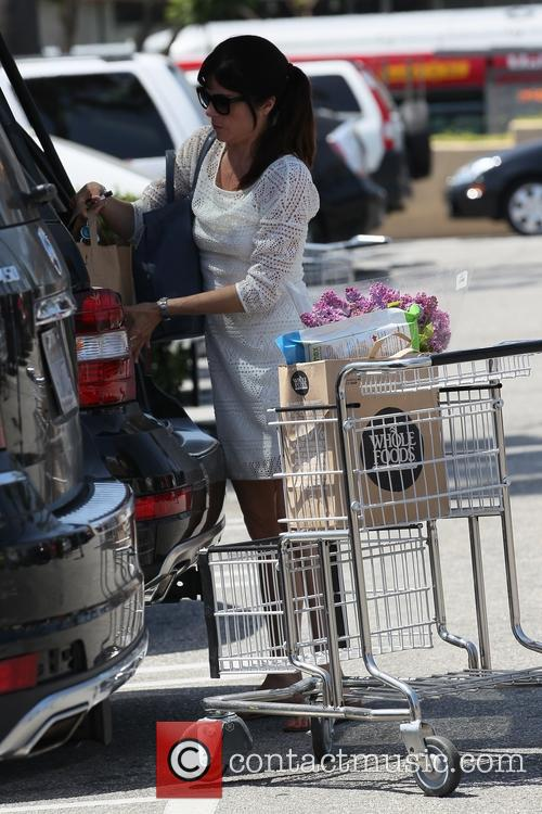 Selma Blair shops for groceries at Whole Foods Market