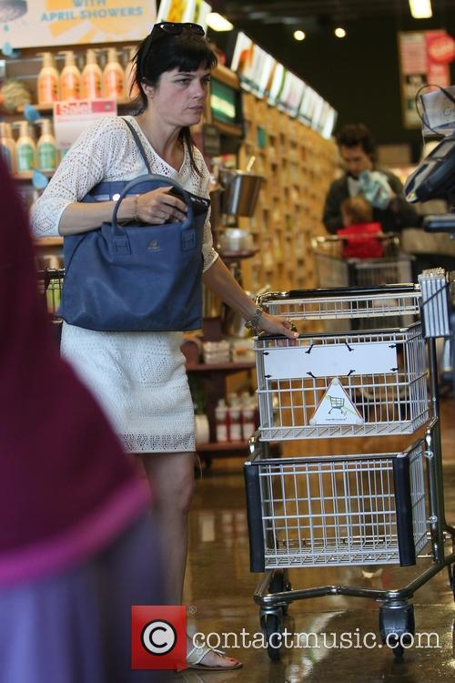 Selma Blair shops for groceries at Whole Foods...