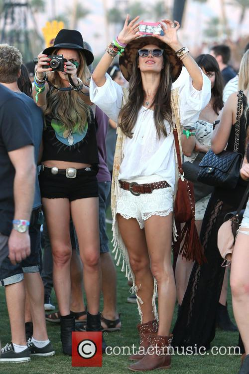 Alessandra Ambrosio, Candice Swanepoel, Coachella Music Festival, Coachella