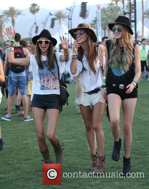 Miranda Kerr, Alessandra Ambrosio, Candice Swanepoel, Coachella Music Festival, Coachella