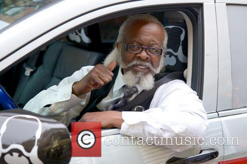 Jimmy McMillan promoting his Rent Is Too Damn...