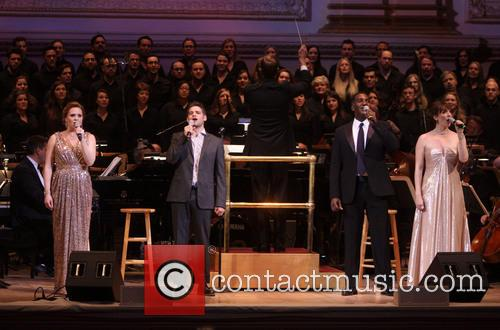 Jennifer Laura Thompson, Jeremy Jordan, Norm Lewis and Julia Murney 3