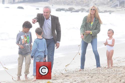 Heidi Klum, Johan Samuel, Malibu Beach