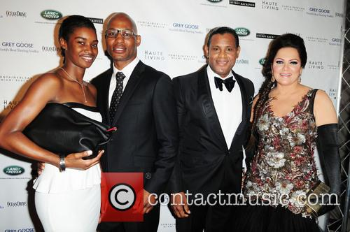 Bernard Hopkins, Sammy Sosa, Sonia Sosa and Jeanette Hopkins 2