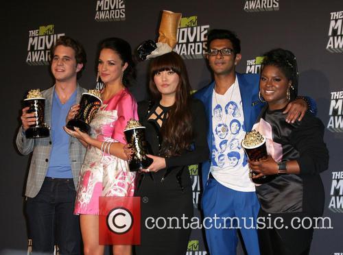 Ben Platt, Alexis Knapp, Hana Mae Lee, Utkarsh Ambudkar and Ester Dean at MTV Movie Awards