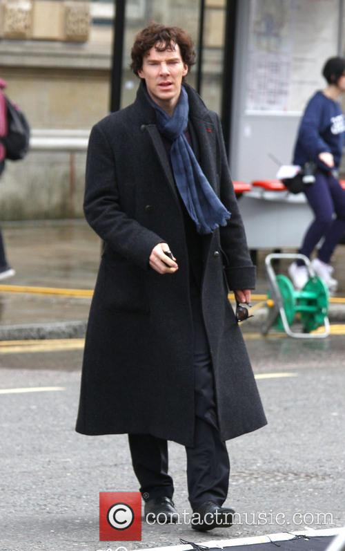 Filming takes place for the new series of 'Sherlock'
