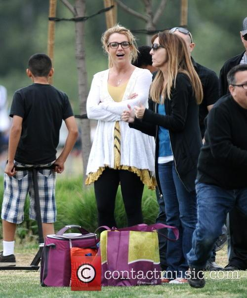 britney spears britney spears at soccer match 3606110