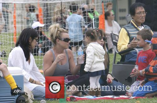 britney spears britney spears at soccer match 3606467