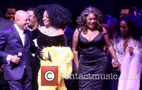 Berry Gordy, Diana Ross, Mary Wilson and Valisia Lekae