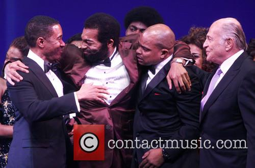 Charles Randolph, Brandon Victor Dixon, Warren Adams, Doug Morris and Motown 2