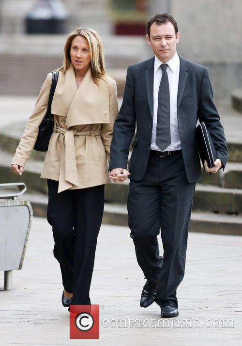 Andrew Lancel arrives at Liverpool Crown Court