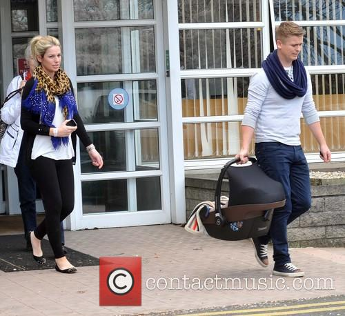 Model Pippa O'Connor and Husband Brian Ormond leaving...
