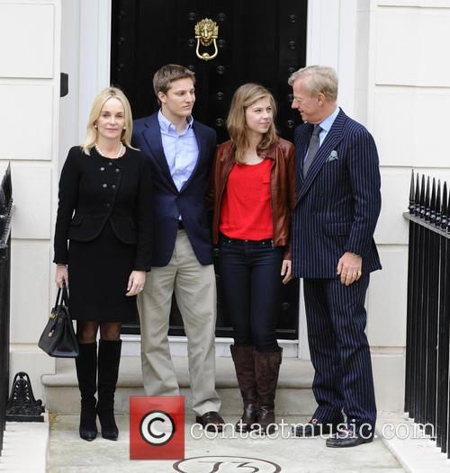 Sir Mark Thatcher with his wife Sarah-Jane and...