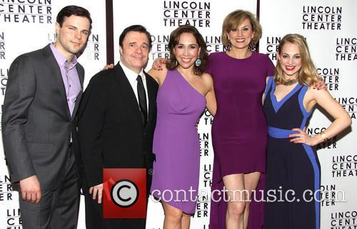 Jonny Orsini, Nathan Lane, Andrea Burns, Cady Huffman and Jenni Barber 6